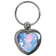 Abstract Marble 10 Key Chains (heart)  by tarastyle
