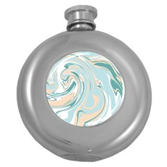 Abstract Marble 11 Round Hip Flask (5 Oz) by tarastyle
