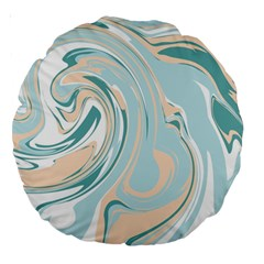 Abstract Marble 11 Large 18  Premium Round Cushions by tarastyle