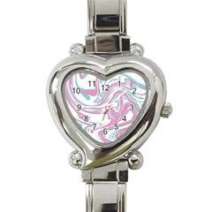 Abstract Marble 12 Heart Italian Charm Watch by tarastyle
