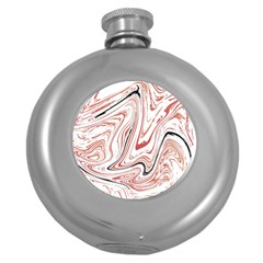 Abstract Marble 13 Round Hip Flask (5 Oz) by tarastyle
