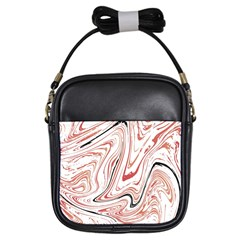 Abstract Marble 13 Girls Sling Bags by tarastyle