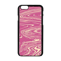 Abstract Marble 14 Apple Iphone 6/6s Black Enamel Case by tarastyle