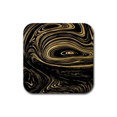 Abstract Marble 15 Rubber Square Coaster (4 Pack)  by tarastyle