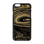 Abstract Marble 15 Apple iPhone 6/6S Black Enamel Case Front