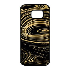 Abstract Marble 15 Samsung Galaxy S7 Edge Black Seamless Case by tarastyle