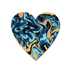 Abstract Marble 18 Heart Magnet by tarastyle