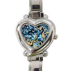 Abstract Marble 18 Heart Italian Charm Watch by tarastyle