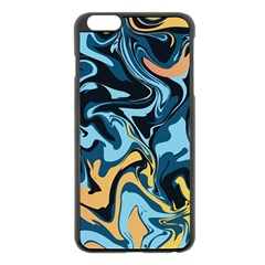 Abstract Marble 18 Apple Iphone 6 Plus/6s Plus Black Enamel Case