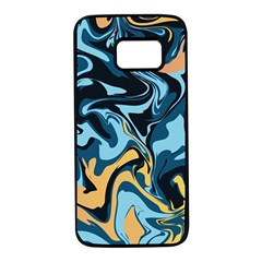Abstract Marble 18 Samsung Galaxy S7 Black Seamless Case by tarastyle
