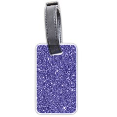 New Sparkling Glitter Print E Luggage Tags (one Side)  by MoreColorsinLife