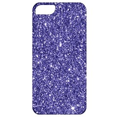 New Sparkling Glitter Print E Apple Iphone 5 Classic Hardshell Case by MoreColorsinLife