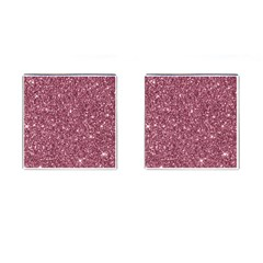 New Sparkling Glitter Print C Cufflinks (square) by MoreColorsinLife