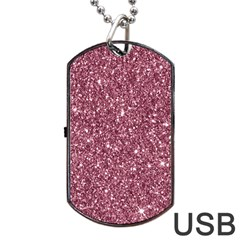 New Sparkling Glitter Print C Dog Tag Usb Flash (one Side) by MoreColorsinLife