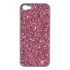 New Sparkling Glitter Print C Apple Iphone 5 Case (silver) by MoreColorsinLife
