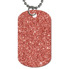 New Sparkling Glitter Print B Dog Tag (two Sides) by MoreColorsinLife