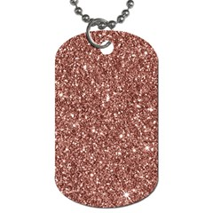 New Sparkling Glitter Print A Dog Tag (two Sides) by MoreColorsinLife