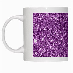 New Sparkling Glitter Print D White Mugs by MoreColorsinLife