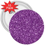 New Sparkling Glitter Print D 3  Buttons (10 pack)  Front