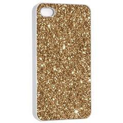 New Sparkling Glitter Print H Apple Iphone 4/4s Seamless Case (white)