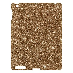 New Sparkling Glitter Print H Apple Ipad 3/4 Hardshell Case by MoreColorsinLife