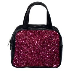 New Sparkling Glitter Print J Classic Handbags (one Side) by MoreColorsinLife