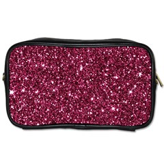 New Sparkling Glitter Print J Toiletries Bags 2 Side by MoreColorsinLife