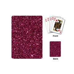 New Sparkling Glitter Print J Playing Cards (mini)  by MoreColorsinLife