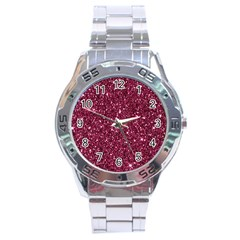 New Sparkling Glitter Print J Stainless Steel Analogue Watch by MoreColorsinLife