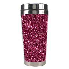 New Sparkling Glitter Print J Stainless Steel Travel Tumblers by MoreColorsinLife