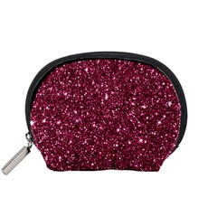 New Sparkling Glitter Print J Accessory Pouches (small)  by MoreColorsinLife
