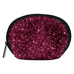 New Sparkling Glitter Print J Accessory Pouches (medium)  by MoreColorsinLife