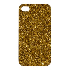 New Sparkling Glitter Print I Apple Iphone 4/4s Hardshell Case by MoreColorsinLife
