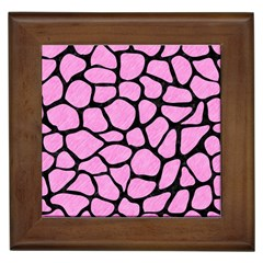 Skin1 Black Marble & Pink Colored Pencil (r) Framed Tiles by trendistuff