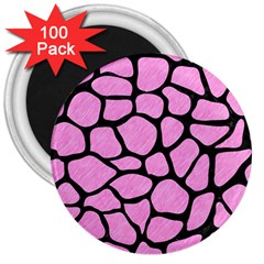 Skin1 Black Marble & Pink Colored Pencil (r) 3  Magnets (100 Pack) by trendistuff