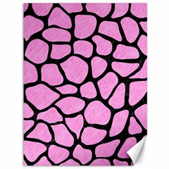 Skin1 Black Marble & Pink Colored Pencil (r) Canvas 36  X 48   by trendistuff