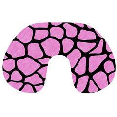 Skin1 Black Marble & Pink Colored Pencil (r) Travel Neck Pillows by trendistuff