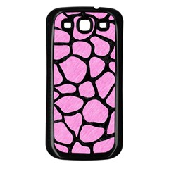 Skin1 Black Marble & Pink Colored Pencil (r) Samsung Galaxy S3 Back Case (black) by trendistuff