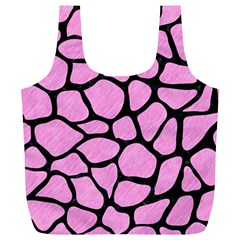 Skin1 Black Marble & Pink Colored Pencil (r) Full Print Recycle Bags (l)  by trendistuff