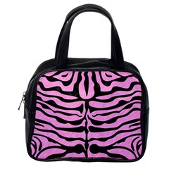 Skin2 Black Marble & Pink Colored Pencil Classic Handbags (one Side) by trendistuff