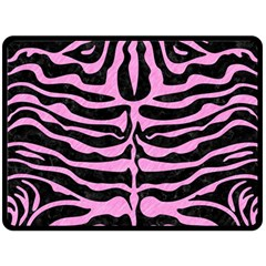 Skin2 Black Marble & Pink Colored Pencil (r) Double Sided Fleece Blanket (large)
