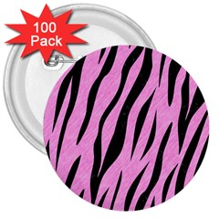Skin3 Black Marble & Pink Colored Pencil 3  Buttons (100 Pack)  by trendistuff