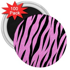 Skin3 Black Marble & Pink Colored Pencil 3  Magnets (100 Pack) by trendistuff