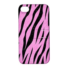 Skin3 Black Marble & Pink Colored Pencil Apple Iphone 4/4s Hardshell Case With Stand by trendistuff