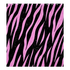 Skin3 Black Marble & Pink Colored Pencil (r) Shower Curtain 66  X 72  (large)  by trendistuff