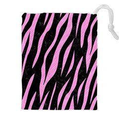 Skin3 Black Marble & Pink Colored Pencil (r) Drawstring Pouches (xxl) by trendistuff