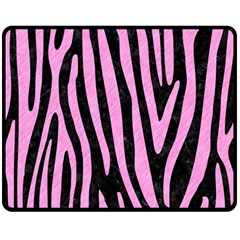 Skin4 Black Marble & Pink Colored Pencil Double Sided Fleece Blanket (medium)  by trendistuff