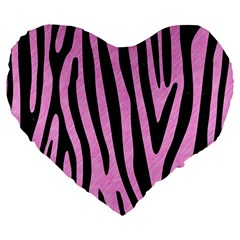Skin4 Black Marble & Pink Colored Pencil (r) Large 19  Premium Flano Heart Shape Cushions by trendistuff