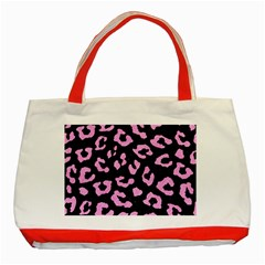 Skin5 Black Marble & Pink Colored Pencil Classic Tote Bag (red) by trendistuff