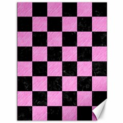 Square1 Black Marble & Pink Colored Pencil Canvas 36  X 48   by trendistuff